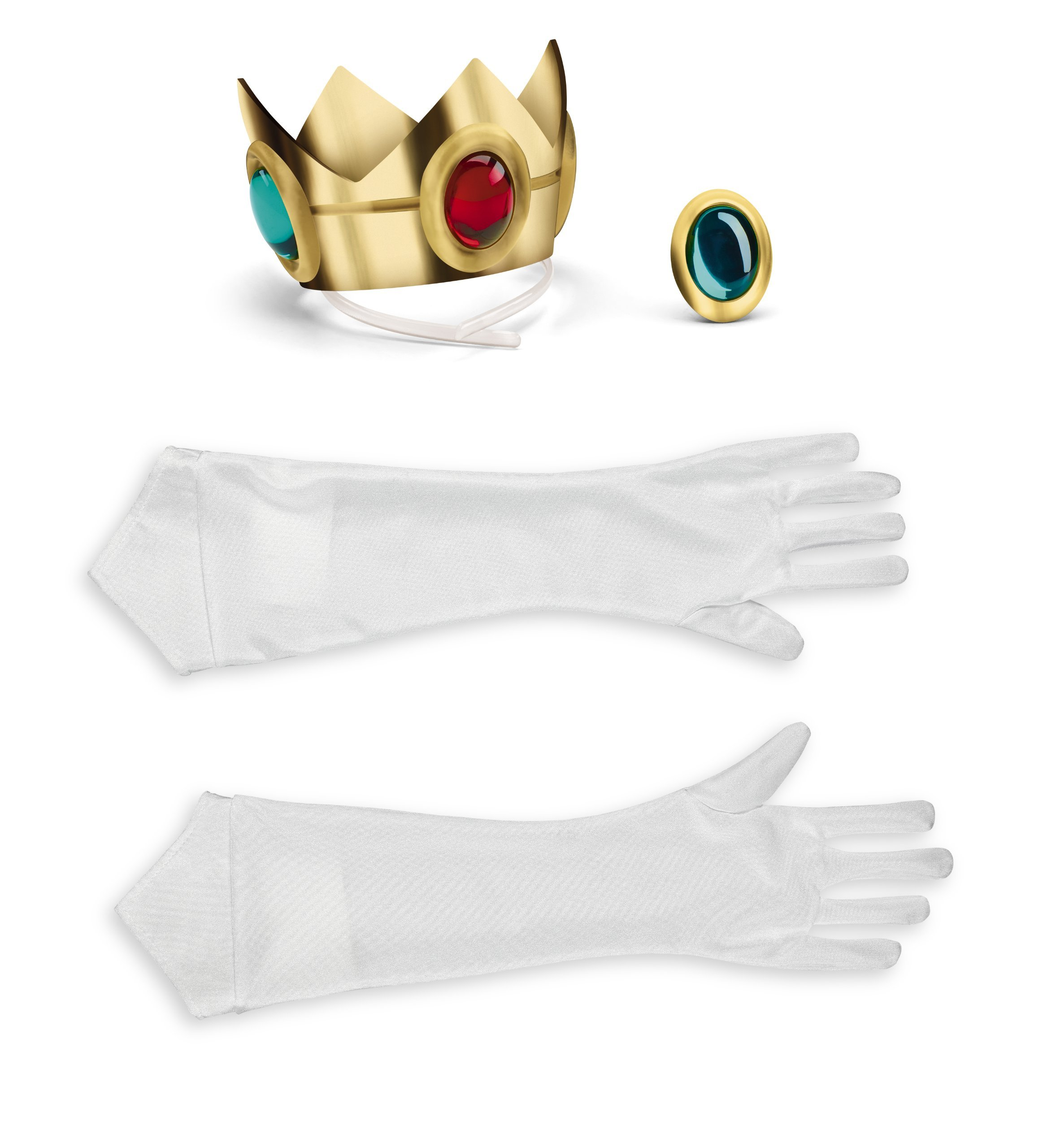 Disguise Women's Nintendo Super Mario Bros.Princess Peach Adult Costume Accessory Kit, Gold/Red/Green/White, One Size