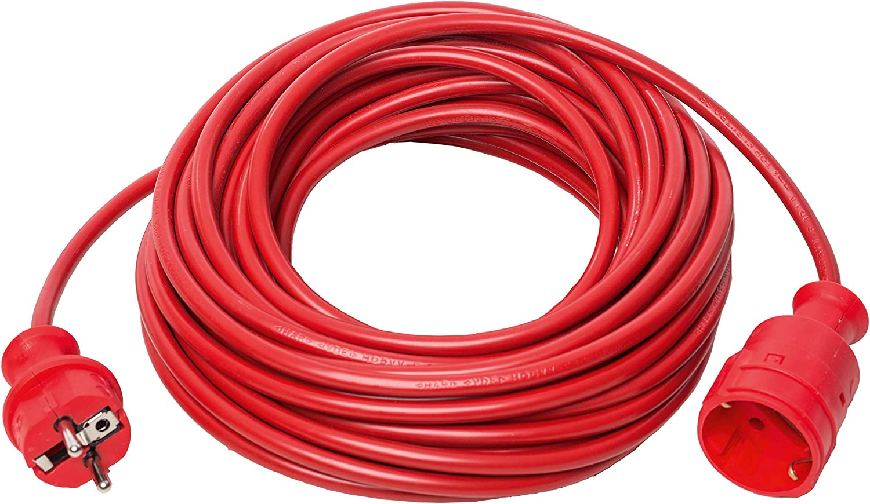 Uni-Elektra 06043 Kunststoffverl/ängerung 25 Meter rot H05VV-F 3G1,5