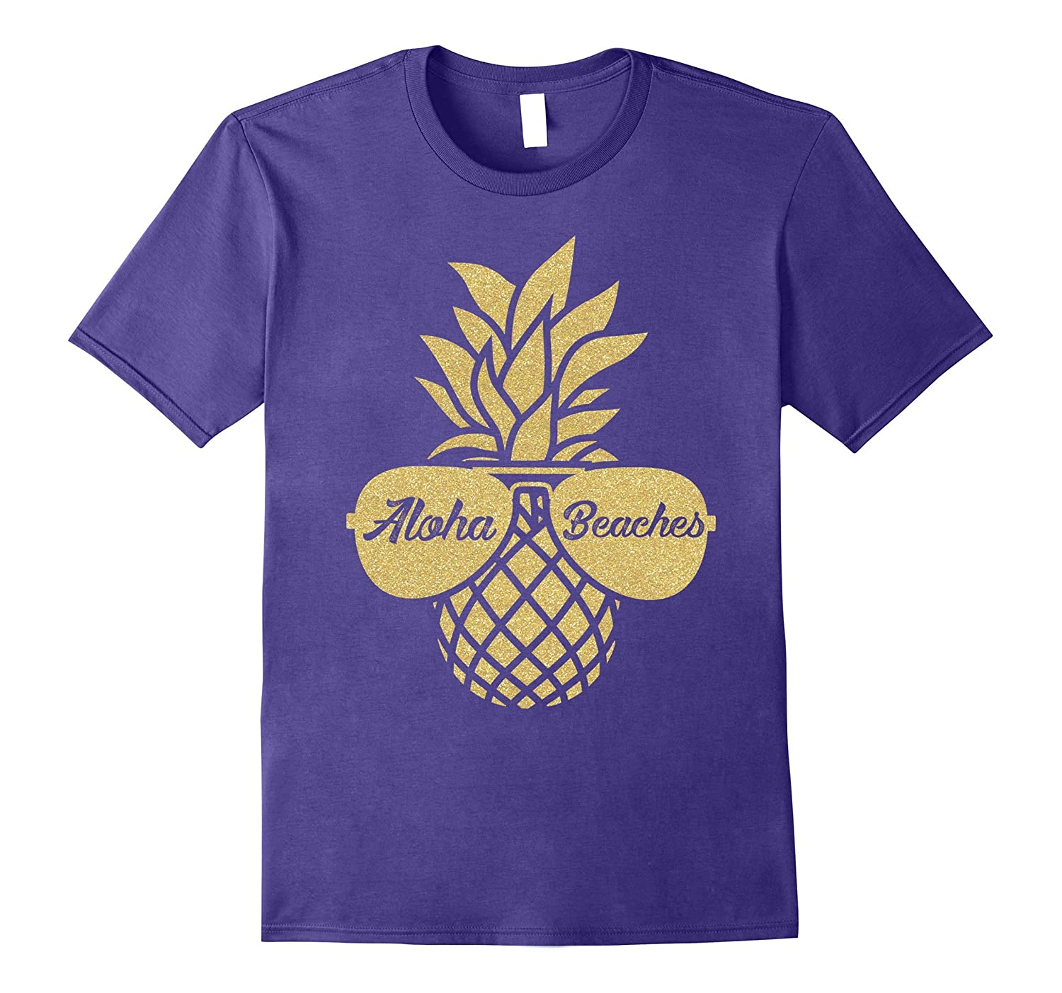 Aloha Beaches Pineapple Sunglasses Hawaiian Shirt - Wedding-T-Shirt