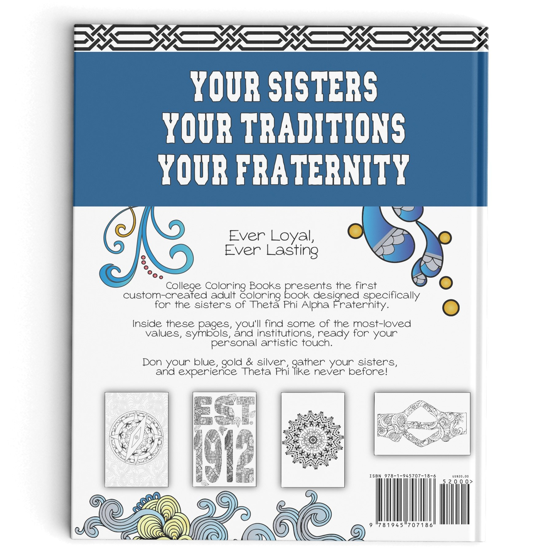 Theta Phi Alpha Adult Coloring Book: College Coloring Books ...