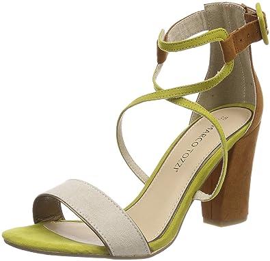28317, Sandales Bride Cheville Femme, Vert (Lime Comb), 40 EUMarco Tozzi
