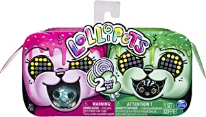 Lollipets , Two Pack, Mini Interactive Collectible Pets with Candy-Shaped Accessory, for Ages 5 & Up (Style May Vary), Multicolor