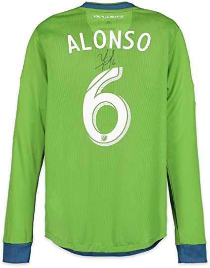 promo code 776e1 e7d22 Osvaldo Alonso Seattle Sounders FC Autographed Match-Used ...
