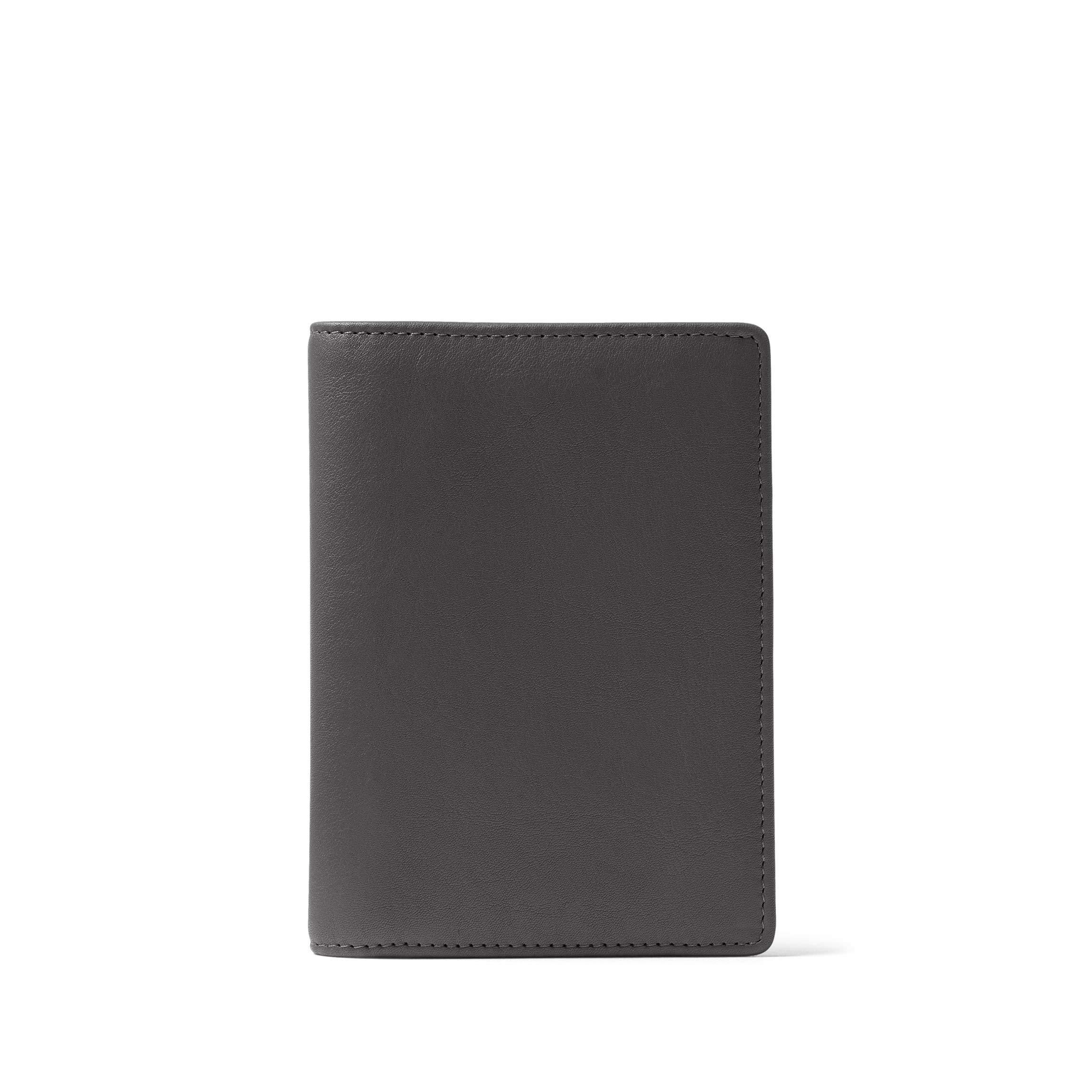 Deluxe Passport Cover - Full Grain Leather - RFID Black Onyx (black)