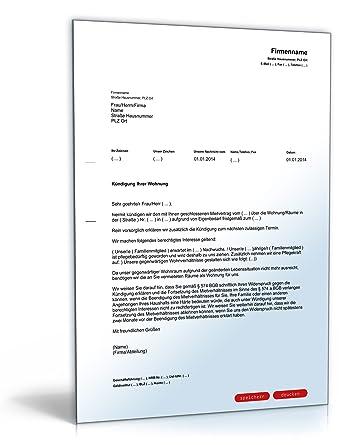 Kündigung Mietvertrag Eigenbedarf Pdf Download Amazonde Software