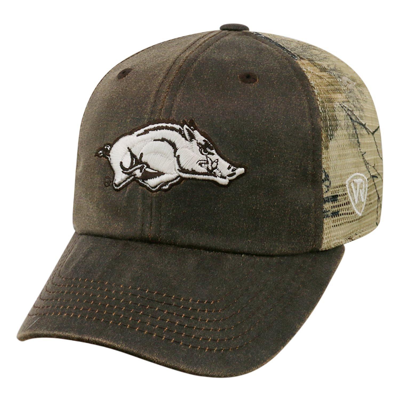 6e5943f4 Amazon.com: Realtree Arkansas Razorback Camo Trucker Hat: Clothing