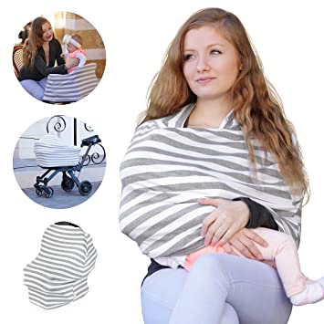 Baby Car Seat Covers for Newborns Extra Soft and Stretchy Nursing Covers for Moms