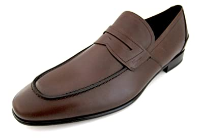 ca27c5508a6 Salvatore Ferragamo Derry Mens Brown Leather Loafers Shoes Made in Italy ( 8.5 D(M
