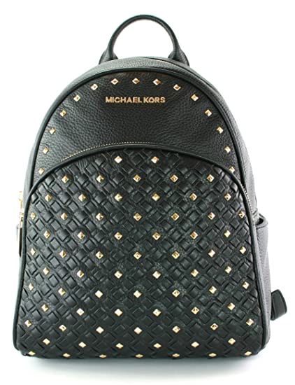 24c1769a7349c8 Amazon.com: MICHAEL KORS Abbey Medium Studded Backpack Pebbled Leather ( Black): Computers & Accessories