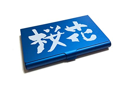 Amazon business card holder ouka sakura blossoms japanese business card holder quotoukaquot sakura blossoms japanese kanji series colourmoves