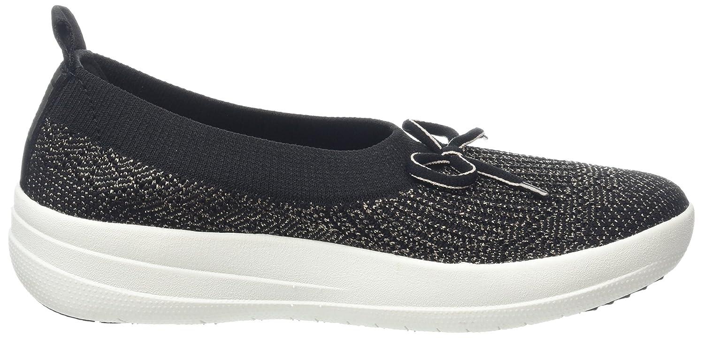 Uberknit Slip-on High Top Sneaker, Ballerines Bout Fermé Femme, Multicolour (Black/Bronze Metallic 501), 38 EUFitFlop