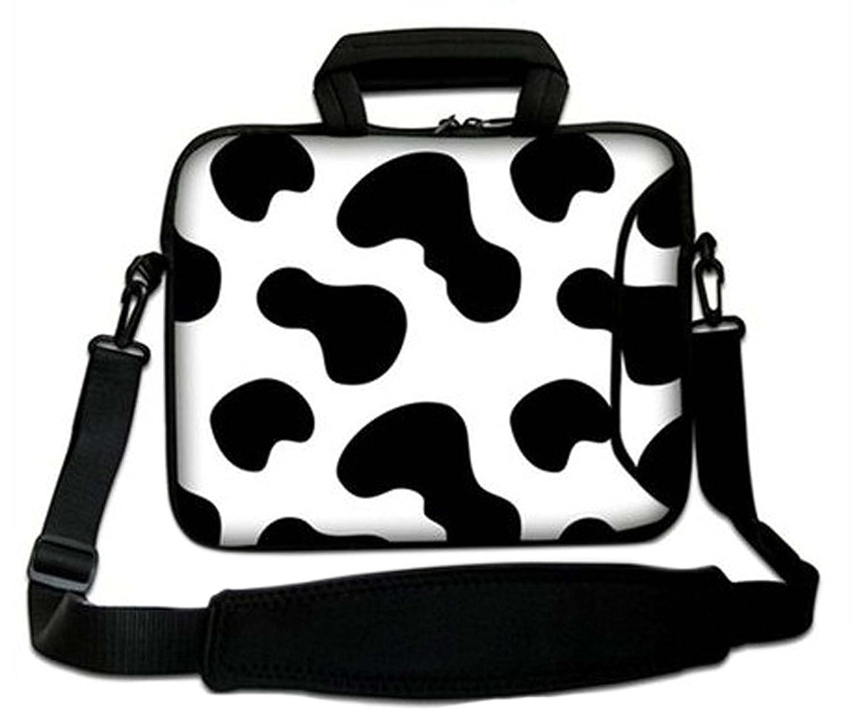 Pulgadas Bolso de hombro con diseño, Funda con Bandolera en Neopreno para Ordenador Portátil - Vaca