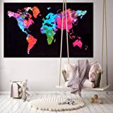 Handicraft-Palace Home Decor Throw World Map Wall Hanging Poster (Cotton) 30X40 Home Decor, Wall Decor, Office Decor