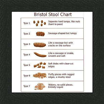 Behind The Glass Bristol Stool Chart - 6 x 6'' Black Frame