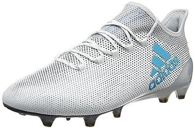 timeless design a3c23 7fb0d adidas Herren X 17.1 Fg Fußballschuhe, Weiß (Footwear White Energy  Blue Clear