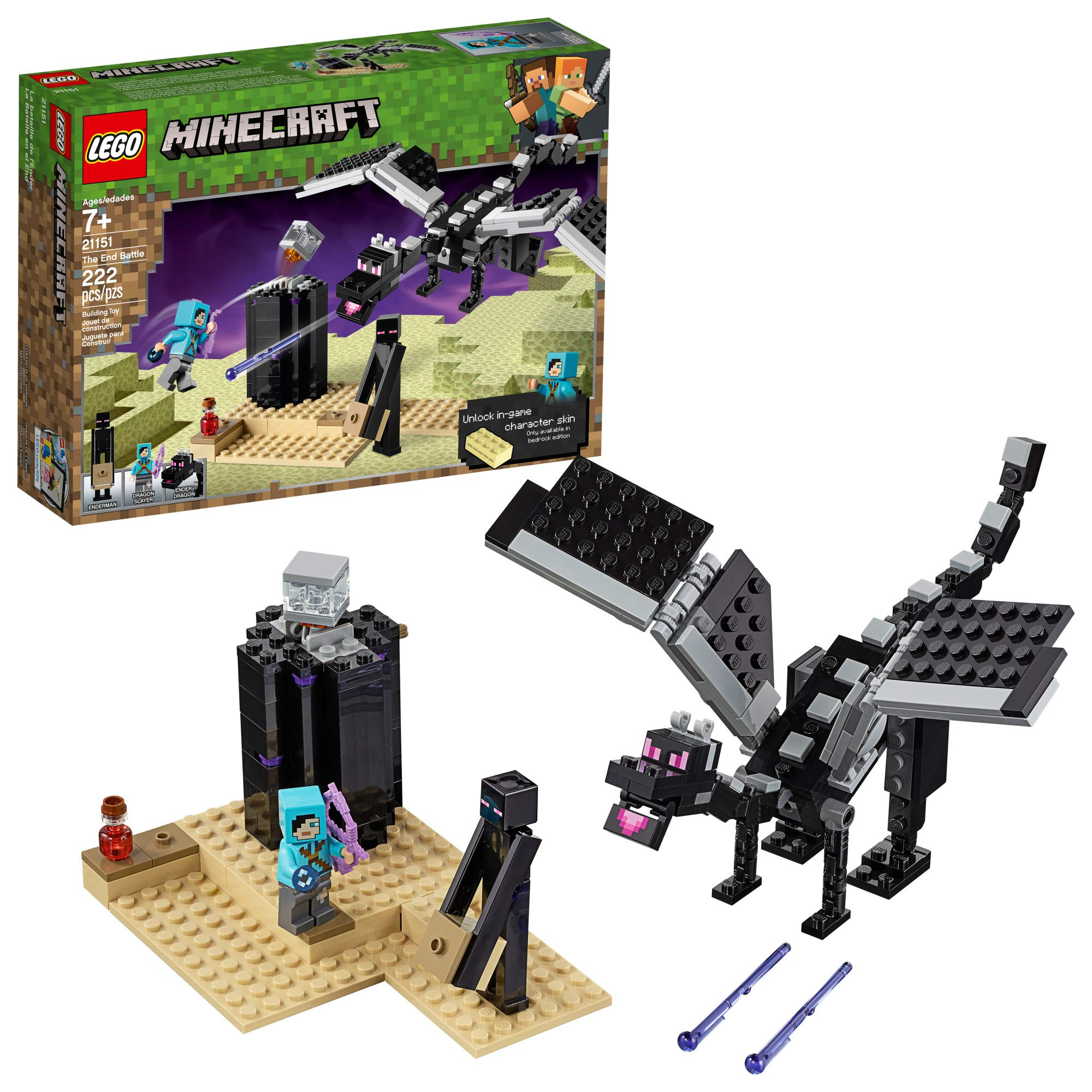 Minecraft Craftables Series Figure Chase Piece Ender Dragon Set 0f 10