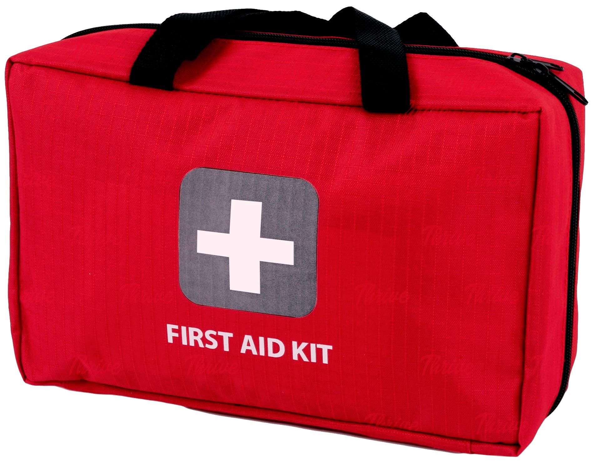 First Aid Kit - 291 Pieces - Bag. Packed with Hospital Grade Medical Supplies for Emergency and Survival situations. Ideal for The Car, Camping, Hiking, Travel, Office, Sports, Pets, Hunting, Home by Thrive