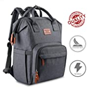 Baby Backpack Diaper Bag for Mom - Diaper Bag Backpack for Dad Strong Strap Land Diaper Backpack Sturdy Zipper Grey Baby Bag Backpack for Girls & Boys