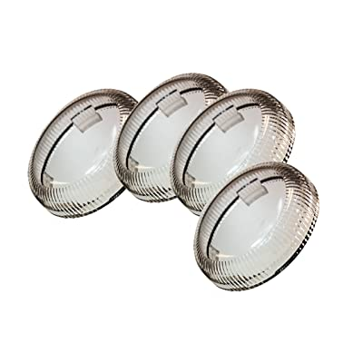 Set (4) OZ-USA Clear Turn Signal Lens Deuce-Style Snap On Replacement Lens for Harley 2002-2013 Street Glide FLHX: Automotive