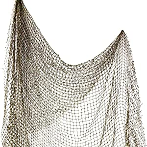 Fishing Net 5' x 7' | Decorative Fishing Net | Authentic Net for Home Decor | Plus Free Nautical eBook by Joseph Rains (1 Pack)