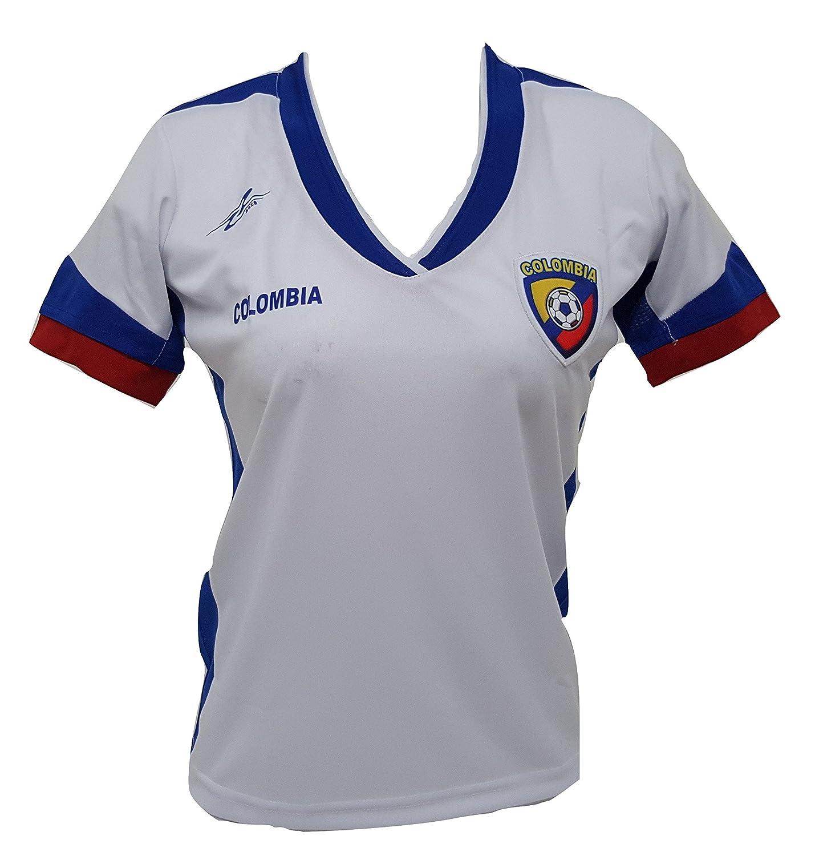 Arza Sports Colombia Slim Ladies f/útbol Jersey dise/ño Exclusivo Copa Am/érica 2016