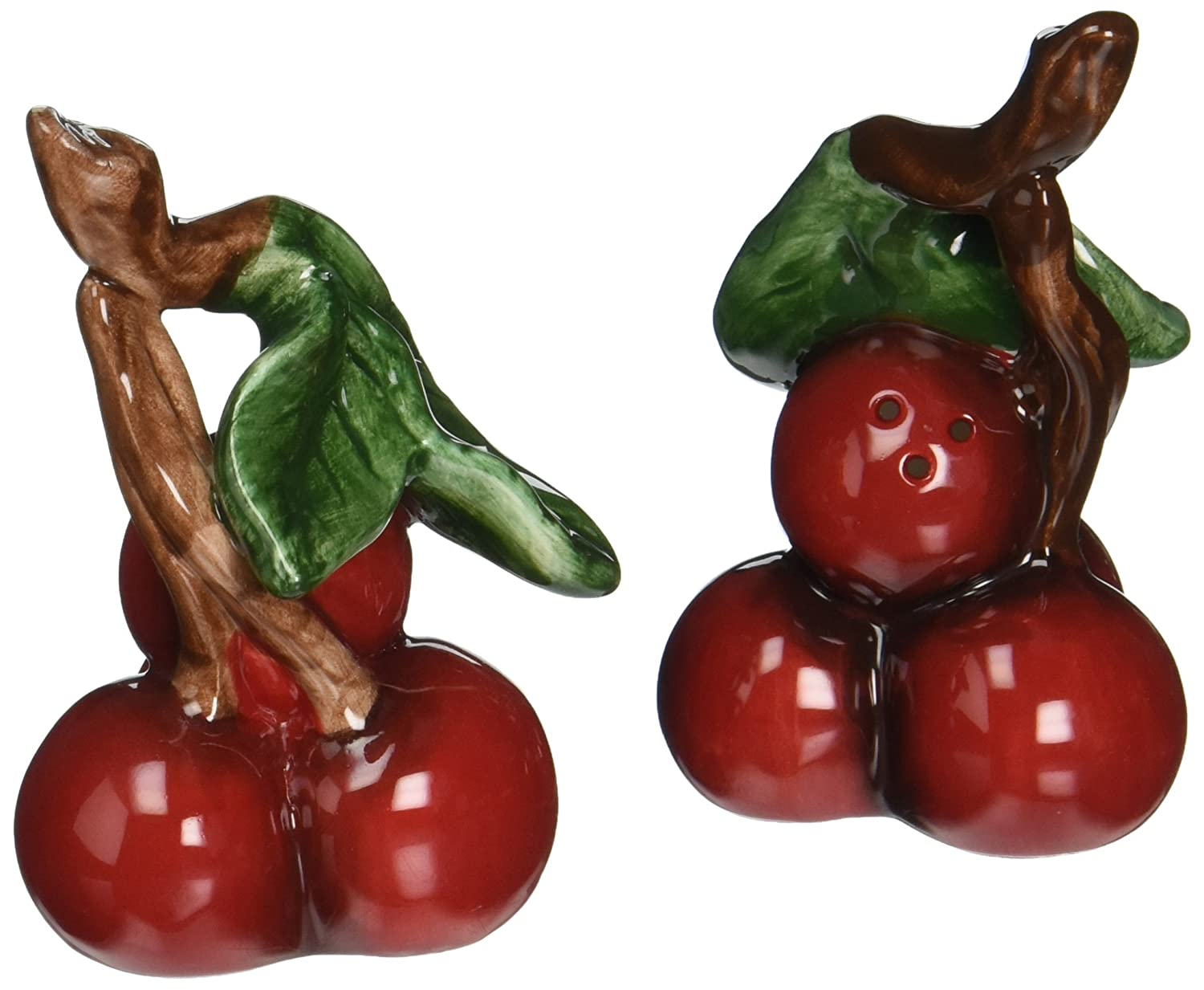 Cherry Bunch with Leaves Salt & Pepper Shakers