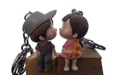 Llavero de pareja romántico para amantes de los besos ...