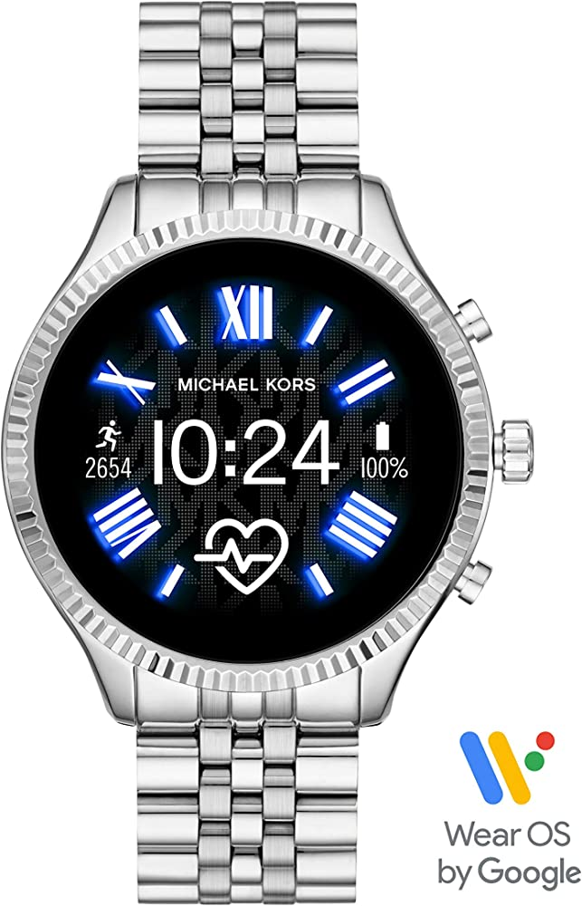 Lexington 2 Smartwatch- Powered with Wear OS by Google with Speaker, Heart Rate, GPS, NFC, and Smartphone Notifications
