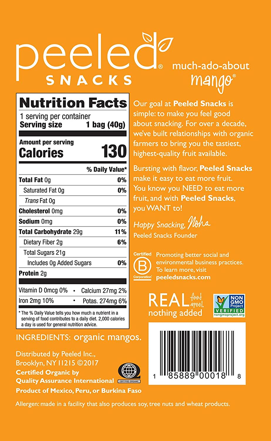 Peeled Snacksanic Dried Fruit, Muchadoaboutmango, 14 Ounce (pack Of  10): Amazon: Grocery & Gourmet Food