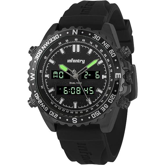 Infantry - Reloj de Pulsera analógico y Digital para Hombre ...