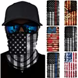 American Flag Face Mask-Seamless UV Protection Face Neck Gaiter Headwear