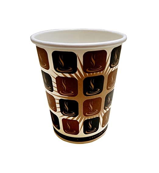 100 vasos de. (227ml) Mocha de papel desechables tazas de café + ...