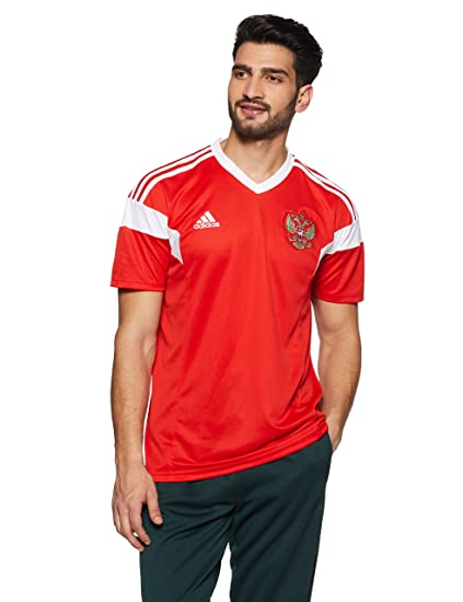 Amazon.com   adidas Russia Home Jersey 2018 2019   Sports   Outdoors 238fcd111