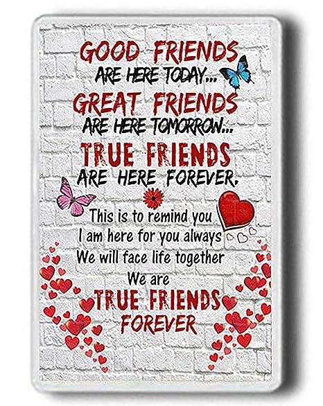 Best Friend Gift Imán para Nevera con Texto en inglés Good Friends ...