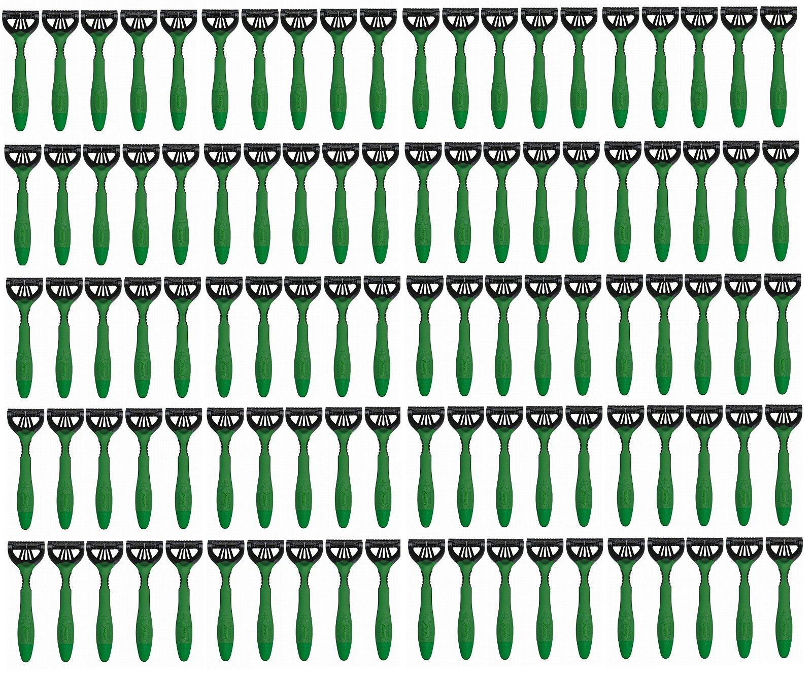 Schick Xtreme3 Disposables Razors Sensitive Vitamin E & Aloe, Green - Lot of 100 - Bulk Packaging