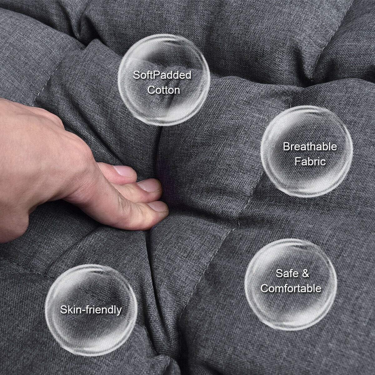 Acolchado Silla del Piso Suelo Silla del Sofá,Ajustable En 5 Posiciones Sillas De Suelo Sofá Cama,meditación Juego De Respaldo Silla Sin Patas Apoyo-b Q 8qPY7Q