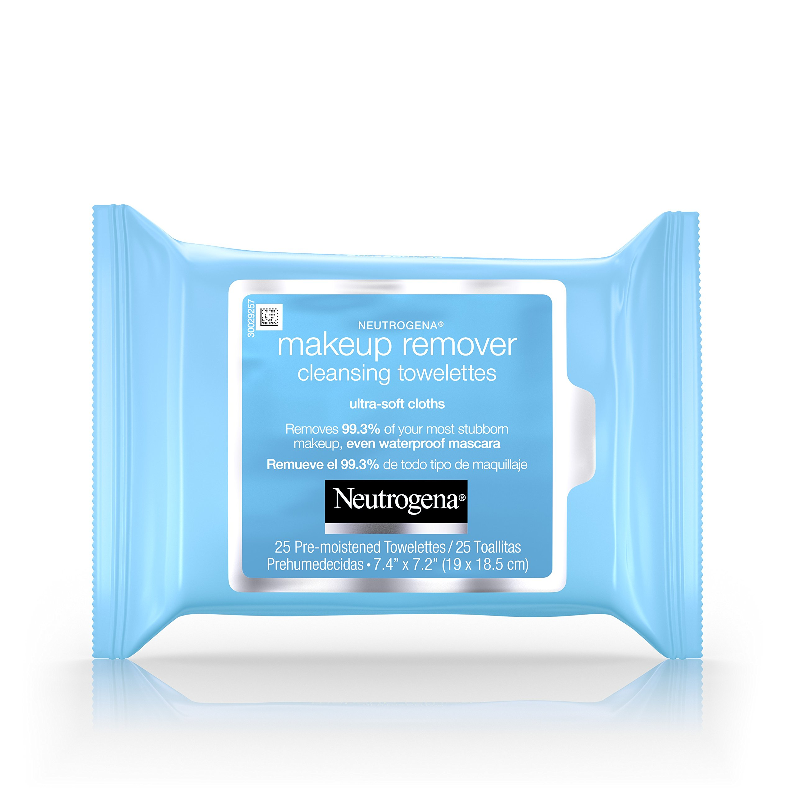 Neutrogena Cleansing Makeup Remover Facial Wipes, Waterproof Mascara Remover Refill Pack, 25 Count (