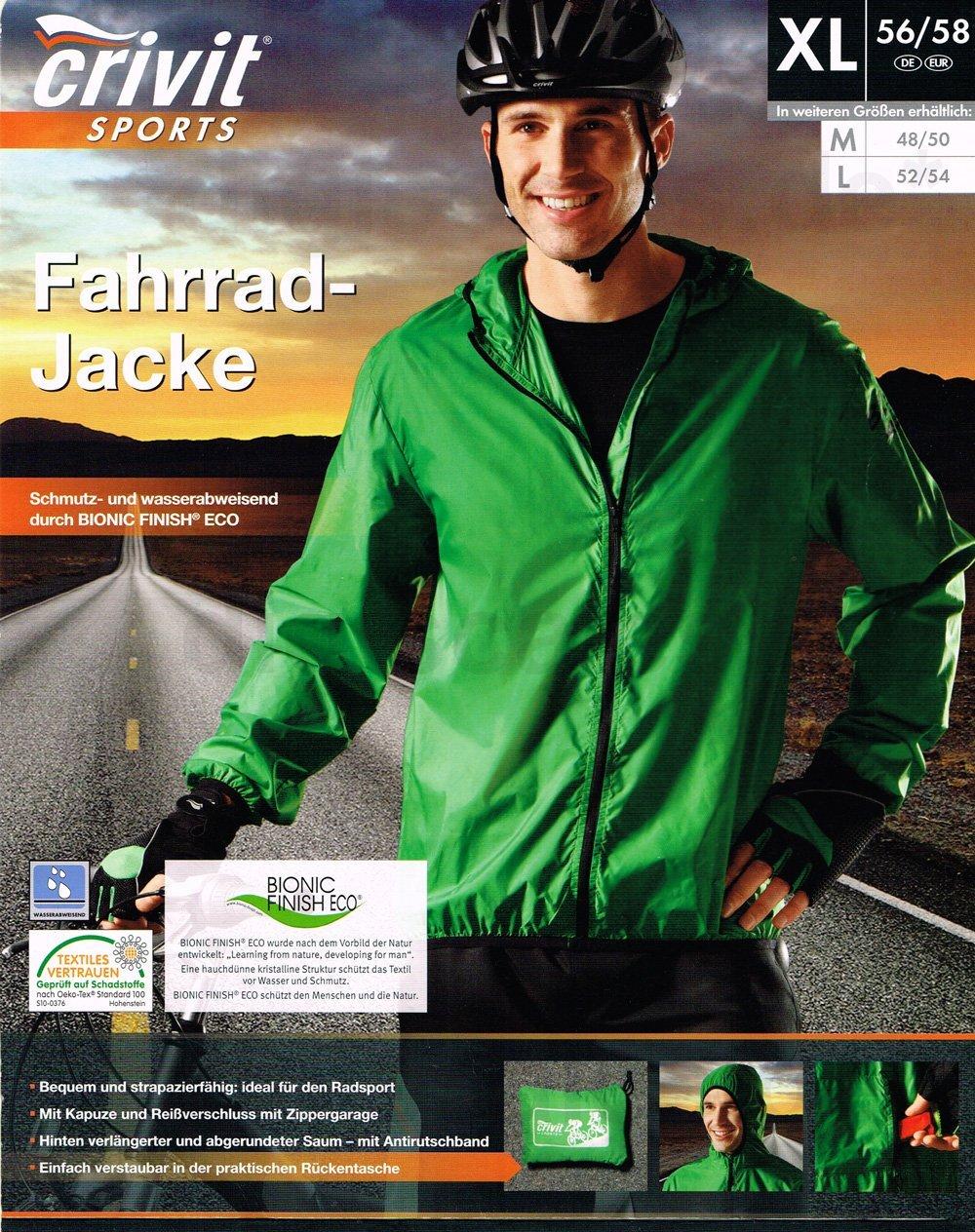 Crivit/® Herren Fahrradjacke mit Kapuze Ultraleicht