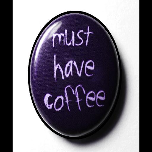 Coffee Zombie Button -