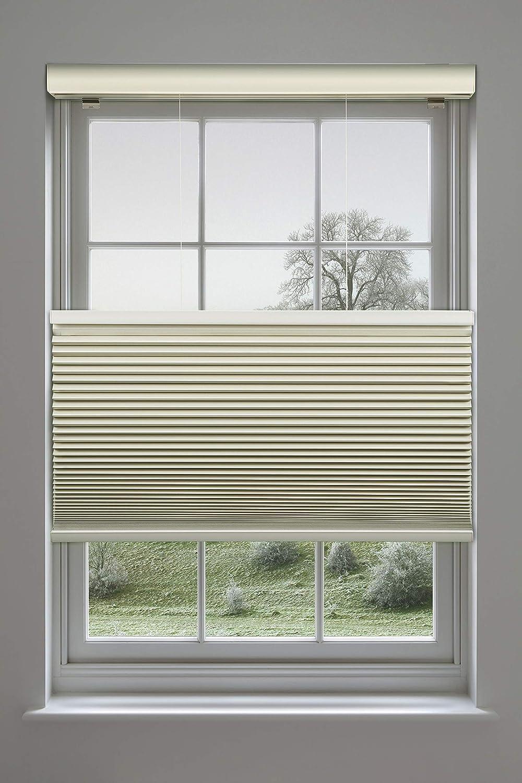 Decor Avenue Custom Cordless 35 1//4 x 30 to 36 Seashell Top Down Bottom Up Light Filtering Cellular Shade Inside Mount