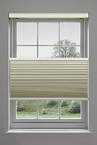 Decor Avenue Custom Cordless 17 3/4 x 30 to 36 Seashell Top Down Bottom Up Light Filtering Cellular Shade Inside Mount