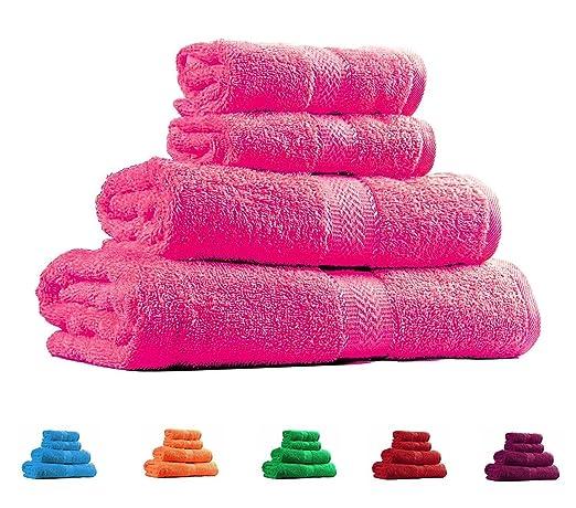 8 opinioni per Trident Combo Set di 4 asciugamani in cotone- 2 asciugamani da bagno e 2 per le
