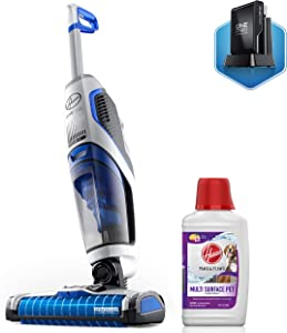 Hoover ONEPWR Cordless FloorMate Jet Hard Floor Cleaner, Wet Vacuum with Paws & Claws Multi Surface Cleaning Solution (32 oz), BH55210, AH30429