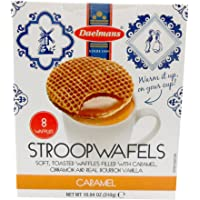 Daelmans Dutch Stroopwafels Wafers Filled with Caramel, Cinnamon, and Real Bourbon Vanilla 10.94 Oz. Gift Box