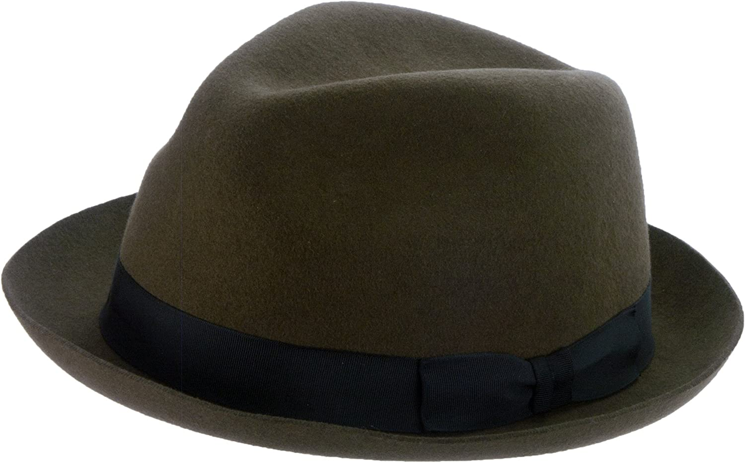 San Francisco Hat Company Preston Stingy Brim Wool Felt Fedora
