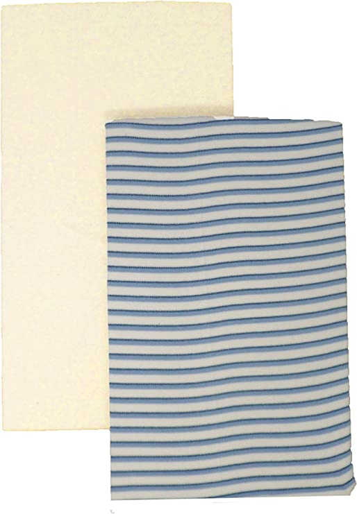 DK Glovesheets GOTS Certificado 100% algodón orgánico ajustable 1 rayas azules y 1 sábana lisa de 83 x 50 cm, específicamente diseñado para adaptarse al colchón Next to Me.: Amazon.es: Hogar