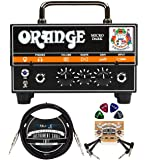 Orange Amps Micro Dark 20W Tube Hybrid Amplifier Head for Electric Guitars Bundle with Blucoil 10' Straight Instrument…