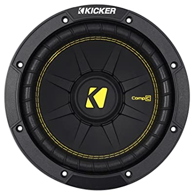 Kicker 44CWCD84 CompC 8 Inch 4 Ohm 200 Watt RMS Power and 400 Watts Peak Power Dual Voice Coil Car Audio Sub Subwoofer, Black: Automotive