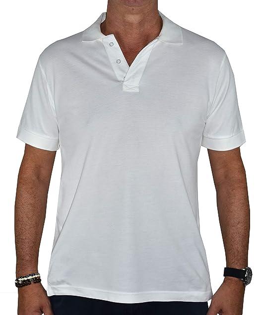 1stAmerican Polo 100% Algodon Hombre Manga Corta Color Blanco con ...
