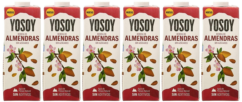 YOSOY Bebida de Almendras Sin Azúcares 1L [caja de 6 x 1L]: Amazon.es: Alimentación y bebidas